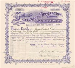 Ship Salvage Corporation Limited 1920