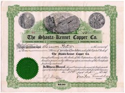 Shasta Kennet Copper Co. - Kennett, Shasta County,  Callifornia 1907