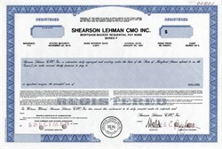 Shearson Lehman CMO Inc. (Collateralized Mortgage Obligations)  - 1987