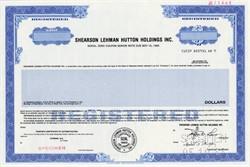 Shearson Lehman Hutton, Inc. an American Express Company -  RARE Zero Coupon Note 1988