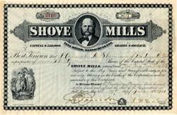 Shove Mills - Fall River, Massachusetts 1901