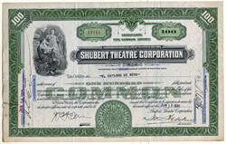 Shubert Theatre Corporation - 1930