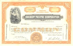Shubert Theatre Corporation - Lee Shubert as President