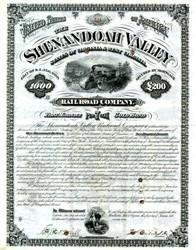 Shenandoah Valley Railroad Company - Virginia & West Virginia 1879