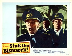 Sink the Bismarck! Lobby Card Starring Kenneth More and Dana Wynter - 1960