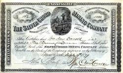 Silver Chord Mining Company - Hinsdale County, Colorado 1879