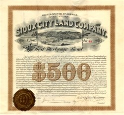 Sioux City Land Company - Sioux City, Iowa 1890