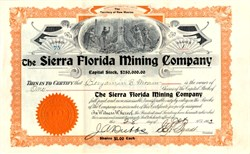 Sierra Florida Mining Company - Territory of  New Mexico 1903