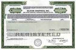 Silicon Graphics, Inc. Zero Coupon Convertible Debenture - 1993