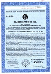 Silicon Graphics, Inc. - Convertible Debenture - California 1989