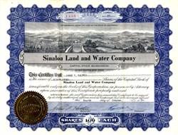 Sinaloa Land and Water Company - California 1924