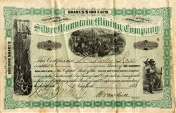 Silver Mountain Mining Company - Wyoming 1878