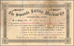 Simonds Rolling Machine Co. 1895 - Fitchburg, Massachusetts