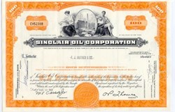 Sinclair Oil Company Stock Certificate