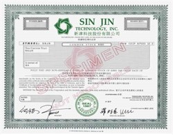 Sin Jin Technology, Inc.