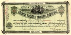 Silver Nugget Mining Company - Globe District, Maricopa County, Arizona Territory -  New York 1881