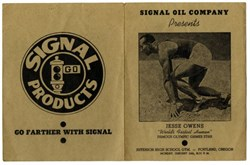Signal Oil Company Program autographed by Jesse Owens ( Most successful athlete at Hitler's 1936 Summer Olympics ) - 1940's
