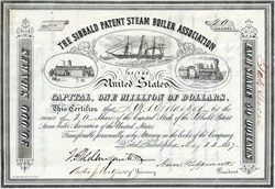 Sibbald Patent Steam Boiler Association of the United States - Philadelphia, Pennsylvannia 1857