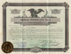 Signal Syndicate No. 5 - Long Beach ( Signal Hill ) , California 1929