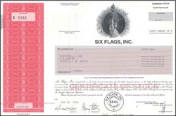 Six Flags, Inc. - Famous Theme Park Company (raised white flag and filed for Chapter 11 bankruptcy )