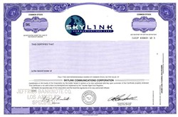Skylink Communications Corporation - Oregon
