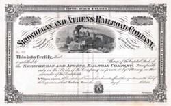 Skowhegan and Athens Railroad Company 1880's - Maine