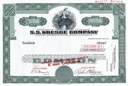 S.S. Kresge Company (Became K Mart)  - Michigan