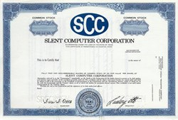 Slent Computer Corporation - Texas 1969