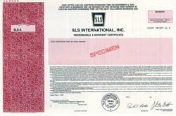 SLS International, Inc. - Delaware 2001