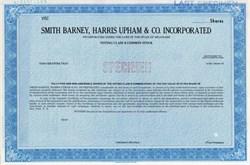 Smith Barney, Harris Upham & Co., Inc. - Delaware
