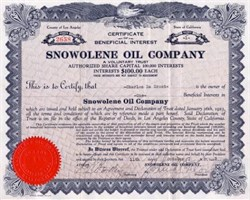 Snowolene Oil Company - Los Angeles, California 1923