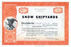 Snow Shipyards Inc.  ( WWII Minesweeper Ship Builder)  - Maine 1943