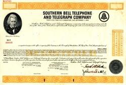 Southwestern Bell Telephone Company Specimen Bond -1965