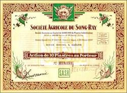 Societe Agricole du Song-Ray 1927 Saigon, Viet Nam