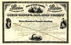 South Carolina Railroad Company �0 Bond - South Carolina