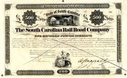 South Carolina Rail Road Company �0 Reconstruction Bond - Charleston, South Carolina 1868