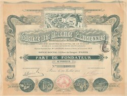 Societe Des Rizeries Parisiennes 1915