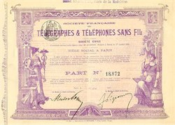 Societe Francaise Des Telegraphes and Telephones Sans Fil 1901