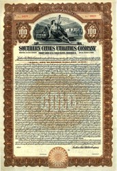 Southern Cities Utilities Company Gold Bond - Delaware 1926