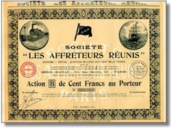 Societe Les Affreteurs Reunis - United Shippers 1919 -1921