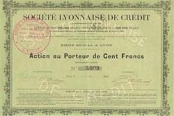 Societe Lyonnaise de Credit 1898