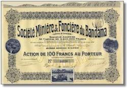 Societe Miniere & Fonciere du Bandama - 1912 - Côte d'Ivoire (Ivory Coast)