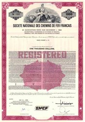 Societe Nationale Des Chemins De Fer Francais ( SNCF ) - French Railroad