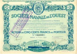 Societe Navale De L'Ouest (Navy Society of the West) 1921 - 1923