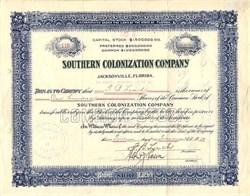 Southern Colonization Company - Jacksonville, Florida 1910