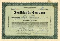 Southlands Company - Georgia 1933