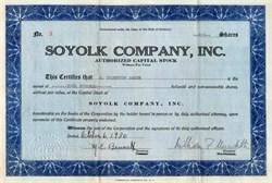 Soyolk Company, Inc. - 1930