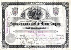 Sonora Consolidated Mill & Mining Company - New York 1883