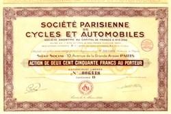 Parisian Cycles and Cars 1929