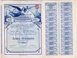 Societe d Eclairage de Clausenbourg et Extensions (Ordinaire)   - Brussels, Belgium 1896